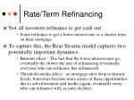 rate term refinancing