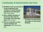 continuity of government services
