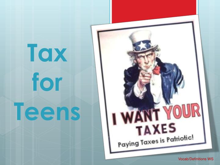 tax for teens n.