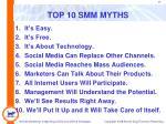 top 10 smm myths