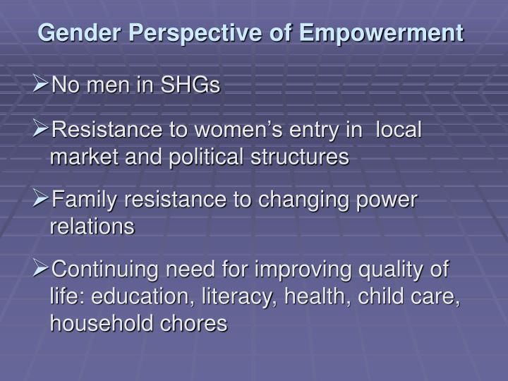 Gender Perspective of Empowerment