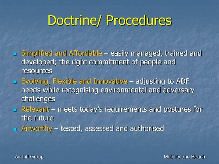 Doctrine/ Procedures