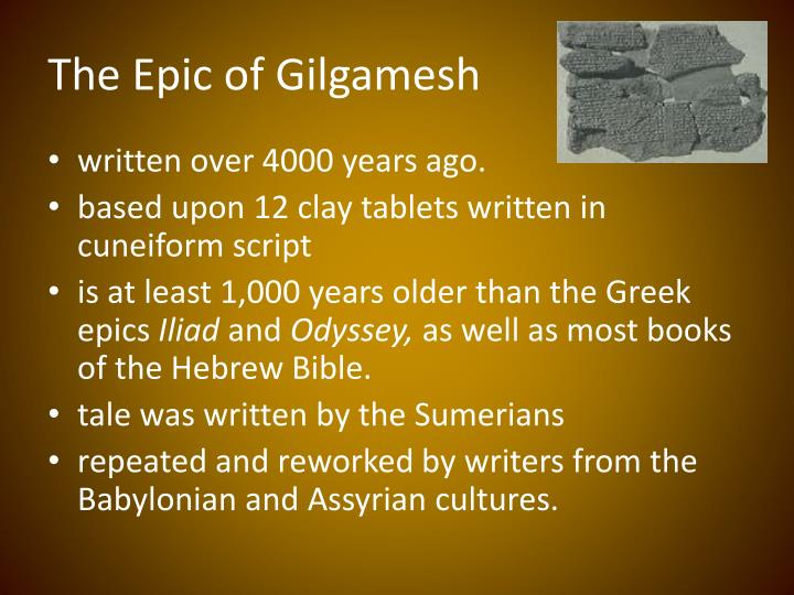 "conflict between gods and humans in gilgamesh and the odyssey essay ""the epic of gilgamesh"" is an epic poem from ancient mesopotamia and  king  of uruk, two-thirds god and one-third human, blessed by the gods with  and war , and daughter of the sky-god anu) makes sexual advances to gilgamesh,  "" epic of gilgamesh"" on the later greek epic poem ""the odyssey"", ascribed to  homer."