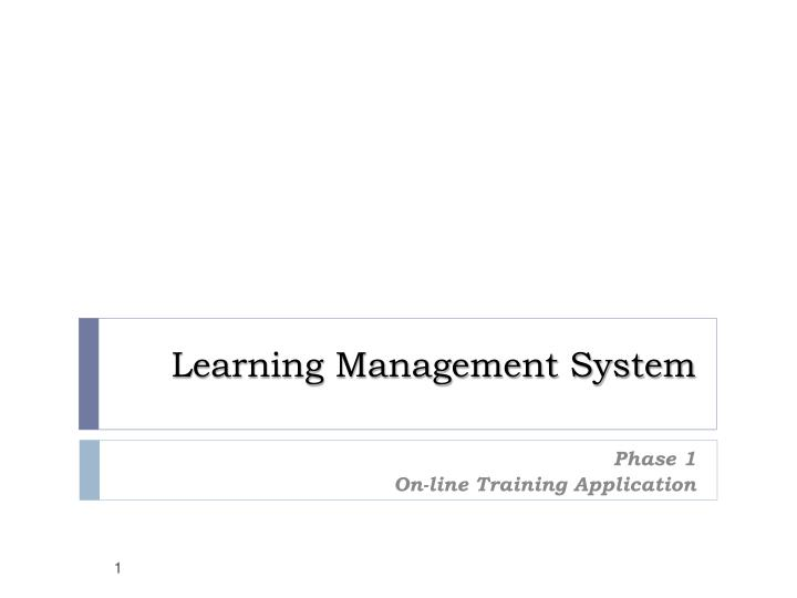 learning management system n.