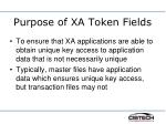 purpose of xa token fields