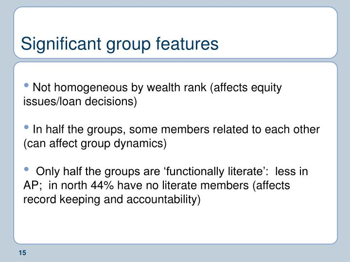 Significant group features