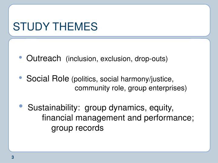 Study themes