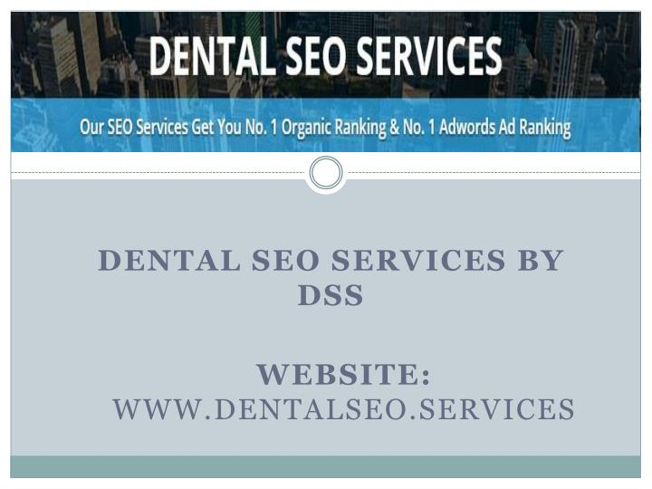dental seo services by dss n.
