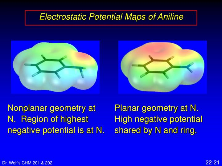 Electrostatic Potential Maps of Aniline