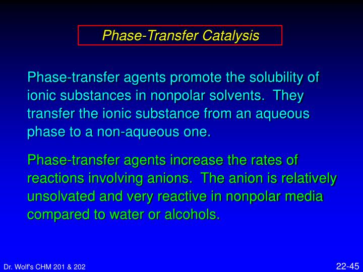 Phase-Transfer Catalysis