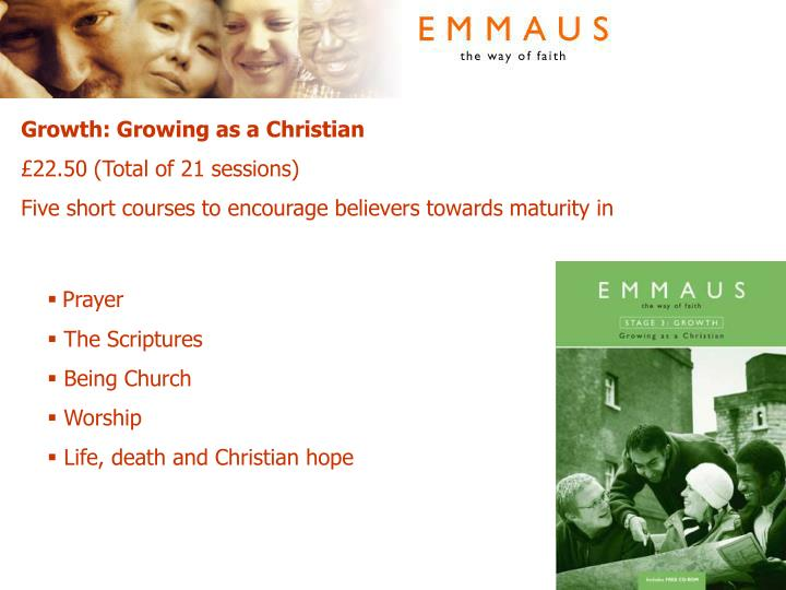 Growth: Growing as a Christian