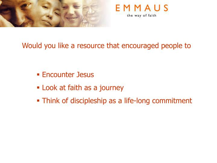 Would you like a resource that encouraged people to