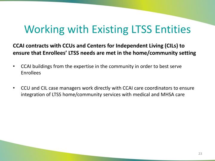 Working with Existing LTSS Entities