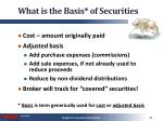what is the basis of securities