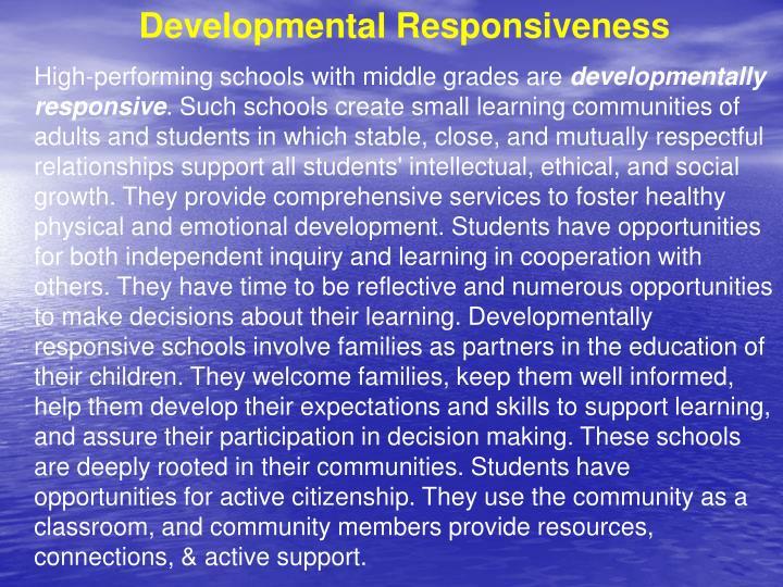 Developmental Responsiveness