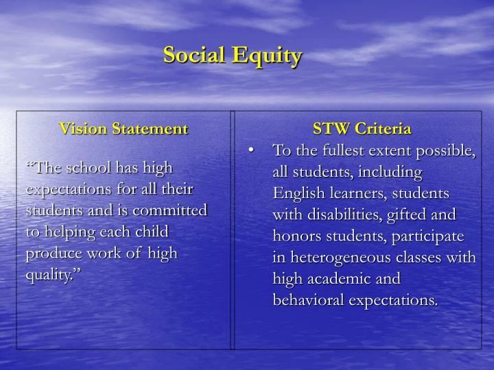 Social Equity