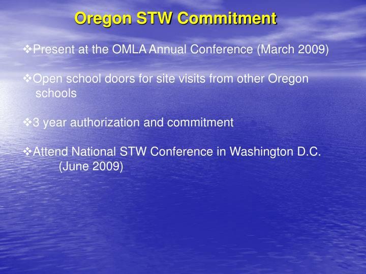 Oregon STW Commitment