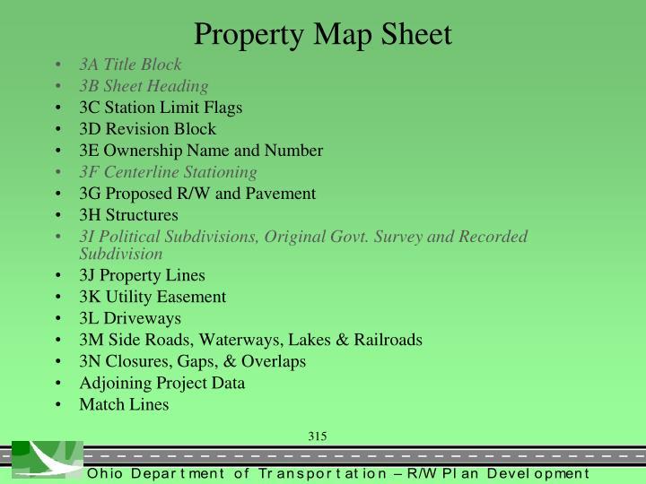 Property Map Sheet