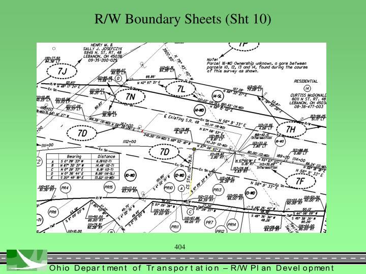 R/W Boundary Sheets (Sht 10)