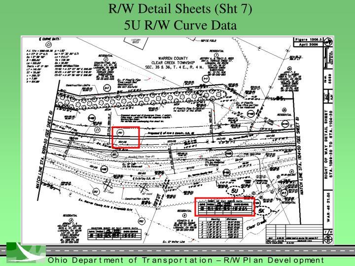 R/W Detail Sheets (Sht 7)