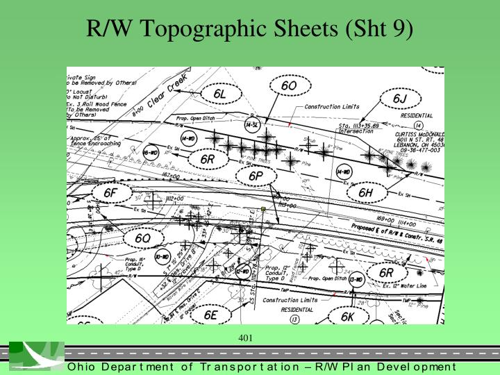 R/W Topographic Sheets (Sht 9)