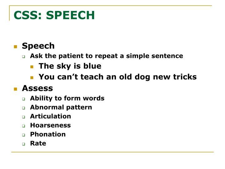 CSS: SPEECH