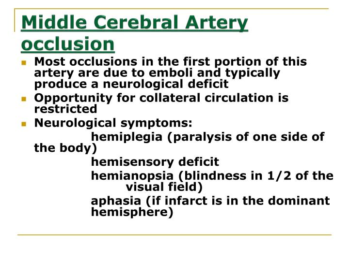 Middle Cerebral Artery occlusion