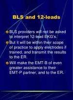 bls and 12 leads