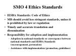 smo 4 ethics standards