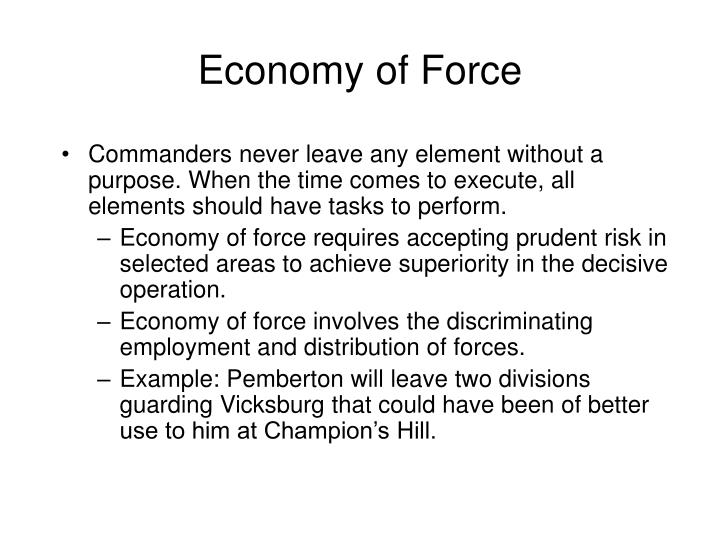 Economy of Force