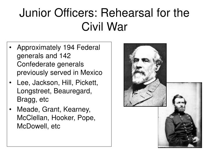Junior Officers: Rehearsal for the Civil War