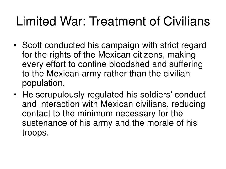Limited War: Treatment of Civilians