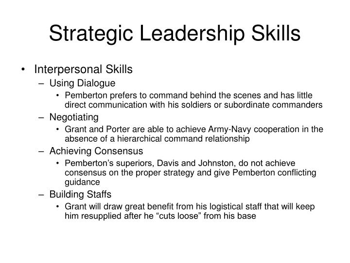 Strategic Leadership Skills
