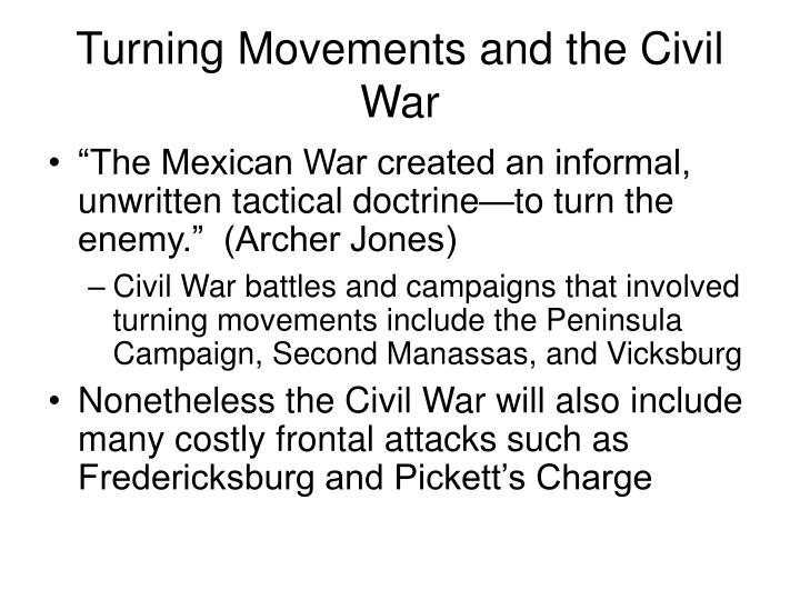 Turning Movements and the Civil War