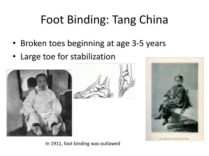 Foot Binding: Tang China