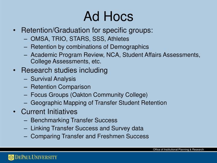 Ad Hocs