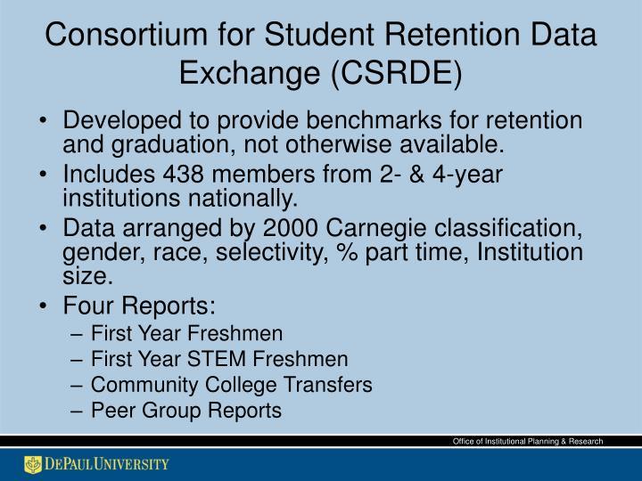 Consortium for Student Retention Data Exchange (CSRDE)
