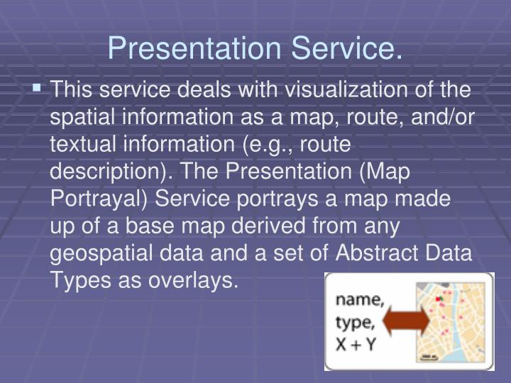 Presentation Service.