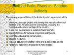 national parks rivers and beaches authority1
