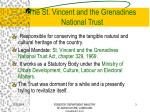 the st vincent and the grenadines national trust