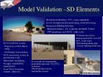model validation sd elements