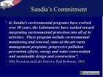 sandia s commitment