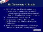 sd chronology at sandia