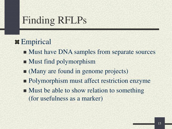 Finding RFLPs
