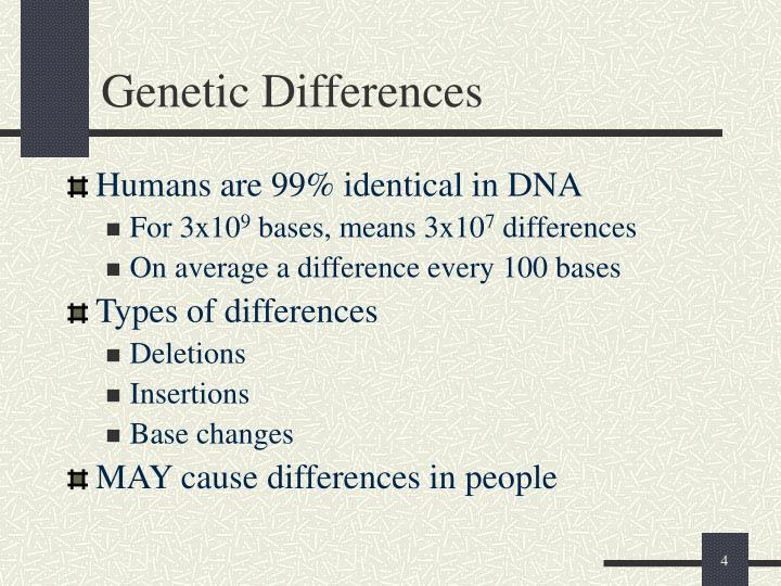 Genetic Differences