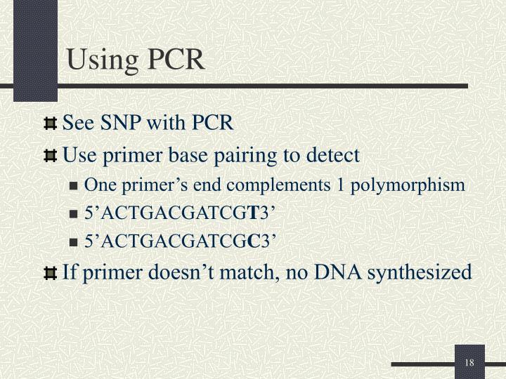 Using PCR