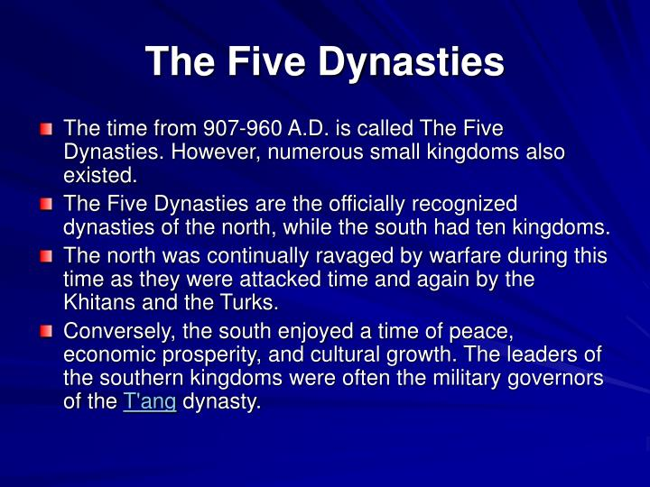 The Five Dynasties