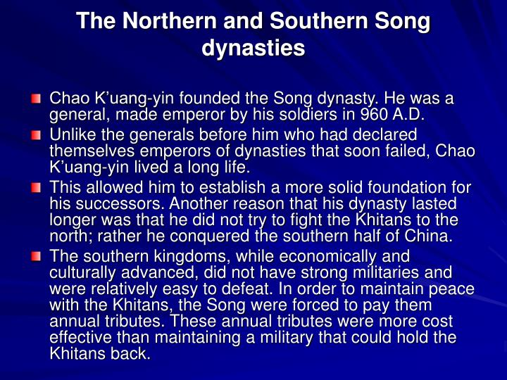 The Northern and Southern Song dynasties