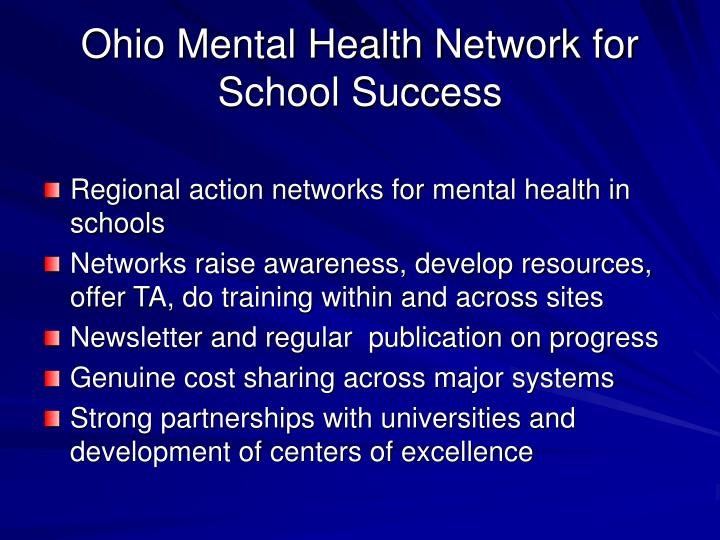 Ohio Mental Health Network for School Success