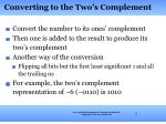 converting to the two s complement
